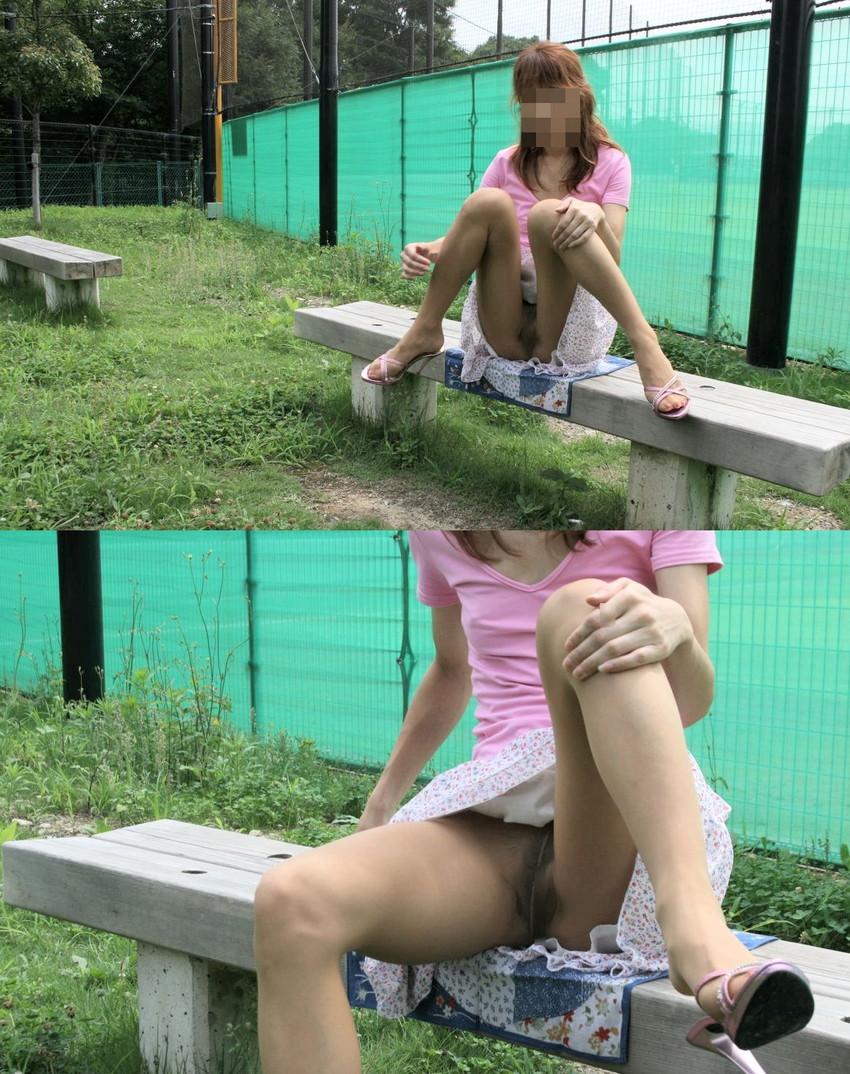 【ノーパンエロ画像】カメラに写ったまさかのシチュエーション!ノーパン!? 33