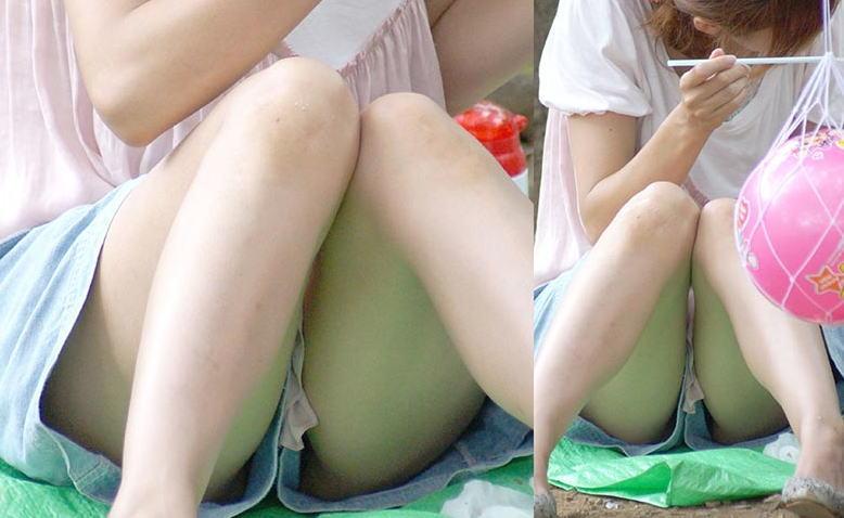 【ノーパンエロ画像】カメラに写ったまさかのシチュエーション!ノーパン!? 50