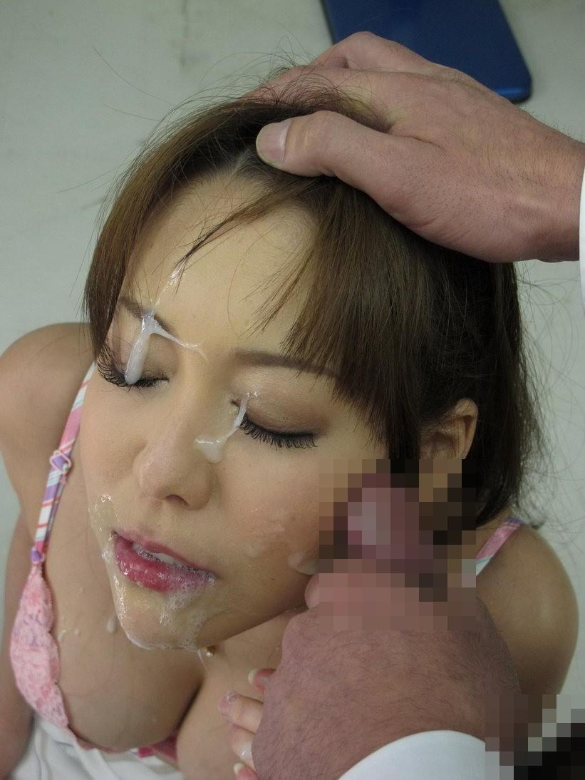 【顔射エロ画像】女の子の可愛い顔をザーメンでドロッドロに汚す顔射! 12