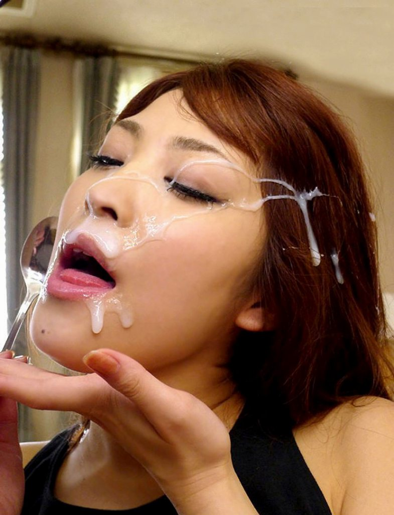 【顔射エロ画像】女の子の可愛い顔をザーメンでドロッドロに汚す顔射! 29