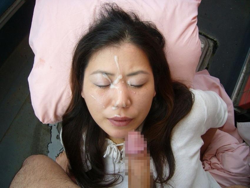 【顔射エロ画像】女の子の可愛い顔をザーメンでドロッドロに汚す顔射! 48