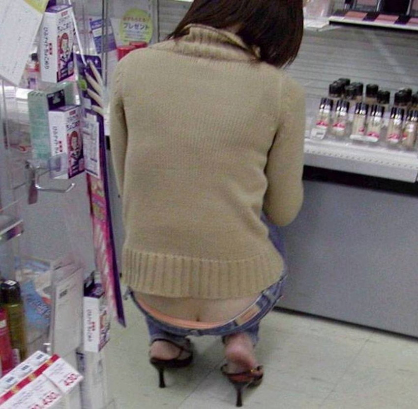 【ローライズエロ画像】こんなズボン履いてれば、こんな事にもなりますよ…。 30