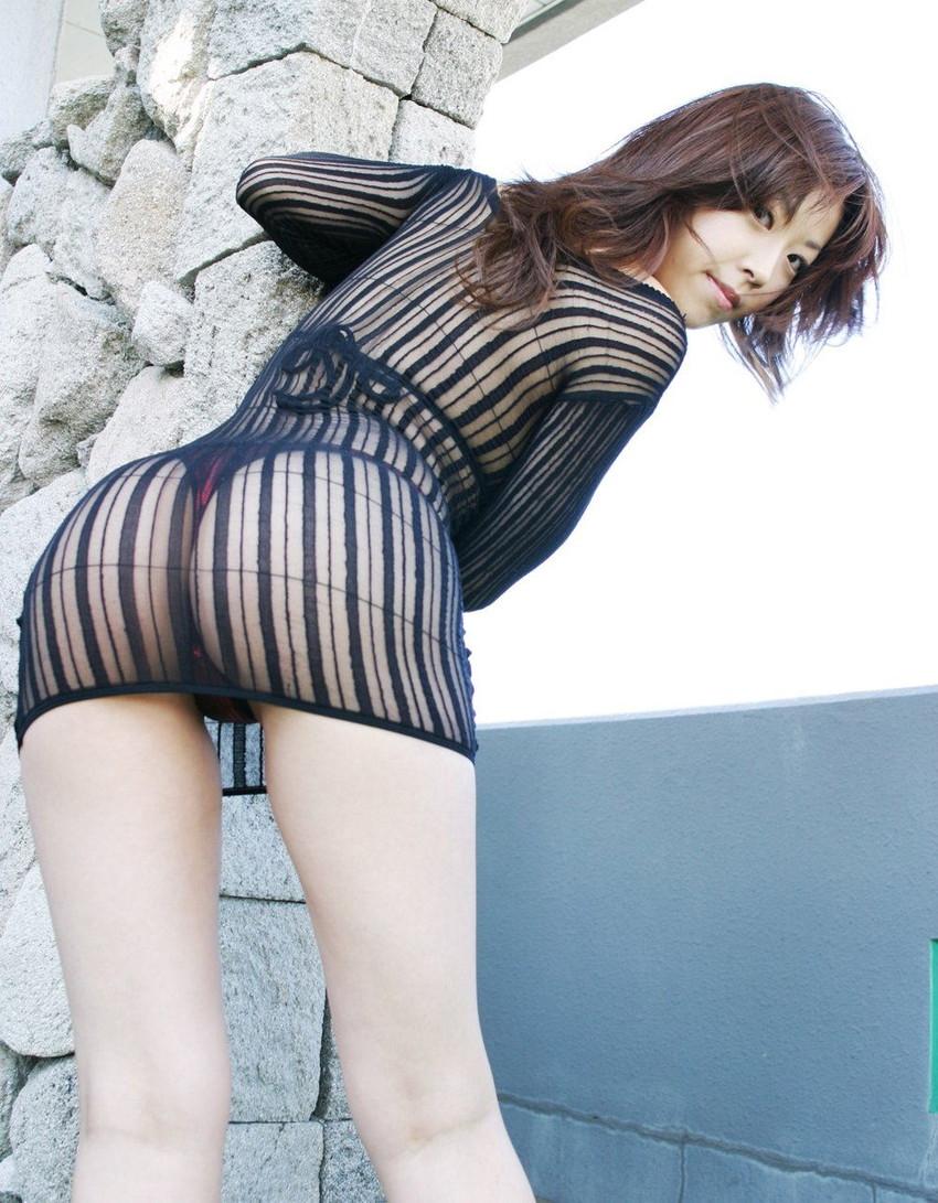 【シースルーエロ画像】シースルーで裸体がスケスケ!鼻血モノのシースルー衣装! 18