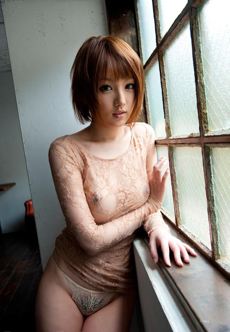 【シースルーエロ画像】シースルーで裸体がスケスケ!鼻血モノのシースルー衣装! 29