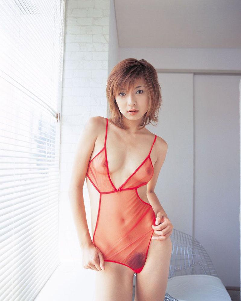 【シースルーエロ画像】シースルーで裸体がスケスケ!鼻血モノのシースルー衣装! 37