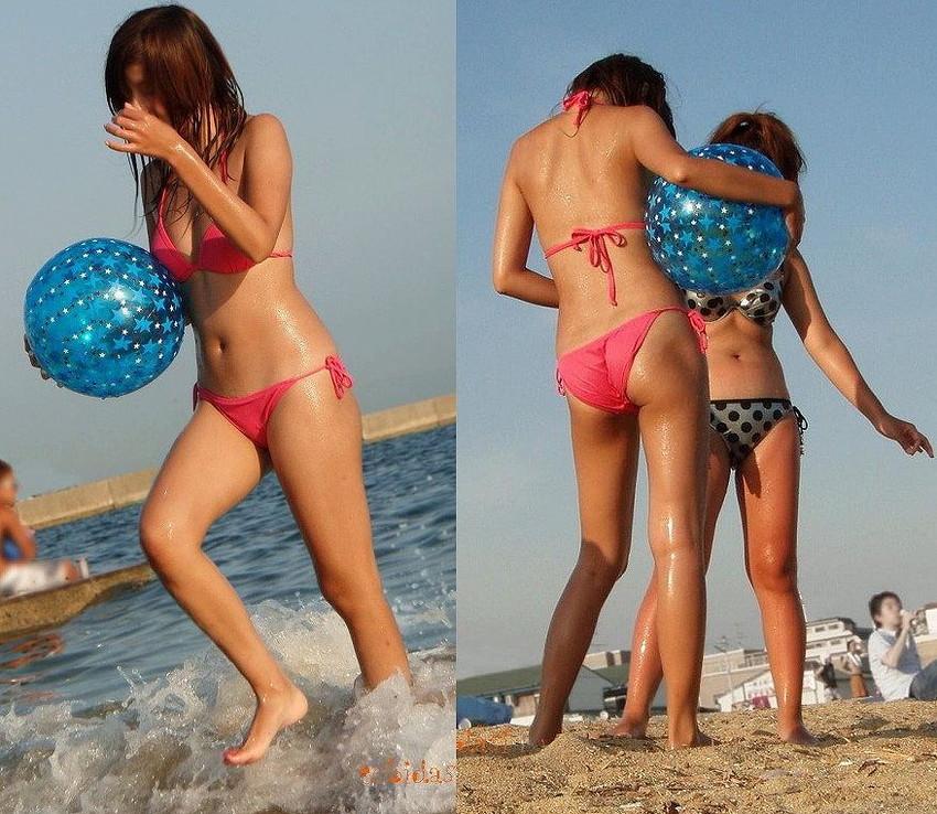 【素人水着エロ画像】夏といえばやっぱりコレだろ!?際どい水着の女の子たち! 45
