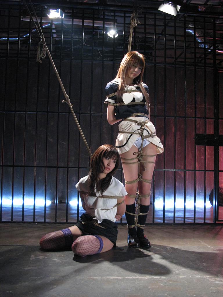 【拘束エロ画像】拘束された身動きのとれない女を陵辱する興奮! 18