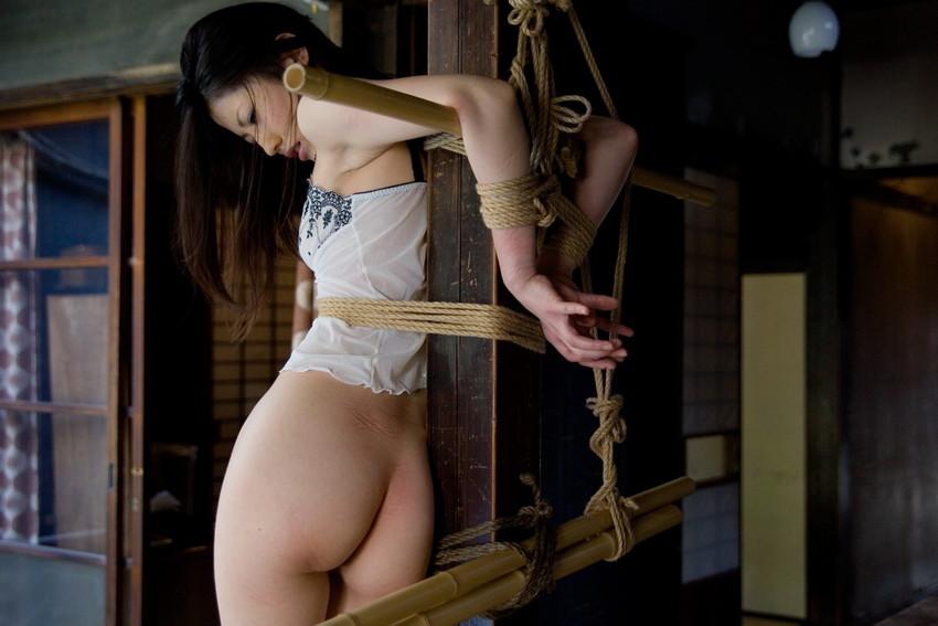 【拘束エロ画像】拘束された身動きのとれない女を陵辱する興奮! 19