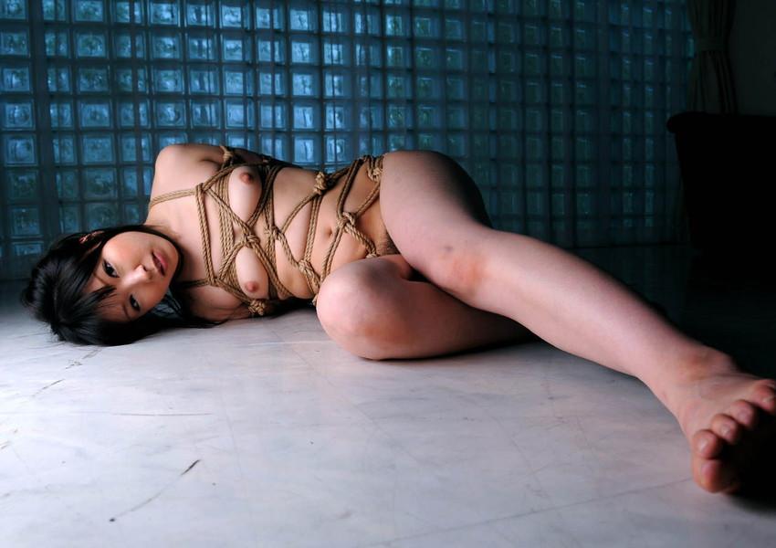 【拘束エロ画像】拘束された身動きのとれない女を陵辱する興奮! 33