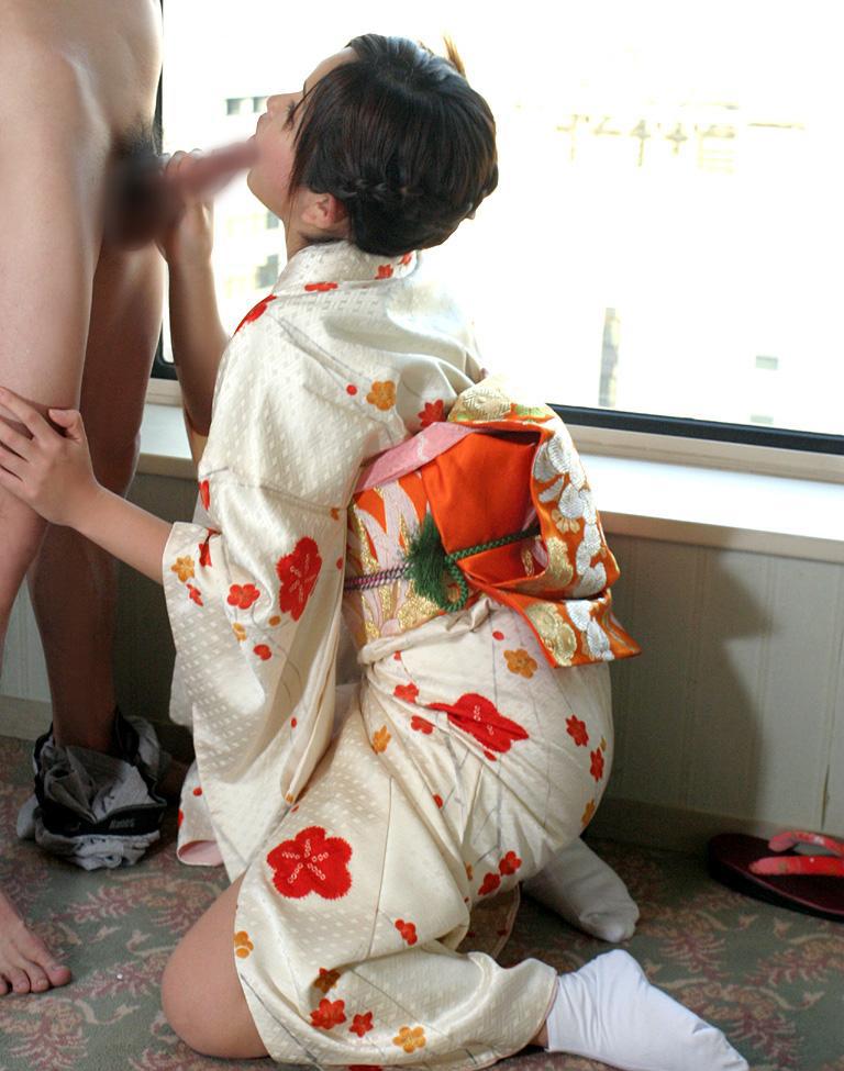【和服エロ画像】日本人で良かった!和服でセックスする女の子たちの卑猥さに感動の涙ww 26