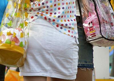 【素人着衣透けエロ画像】見せるつもりのない着衣から透けた素人娘のランジェリー!