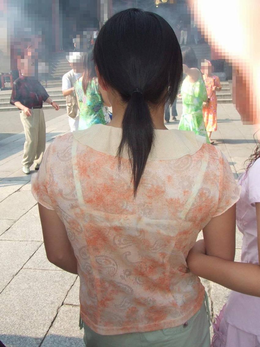 【素人着衣透けエロ画像】見せるつもりのない着衣から透けた素人娘のランジェリー! 10