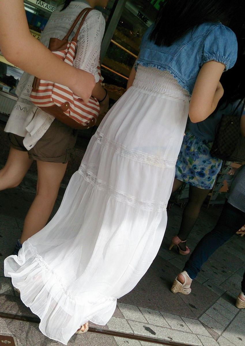 【素人着衣透けエロ画像】見せるつもりのない着衣から透けた素人娘のランジェリー! 17