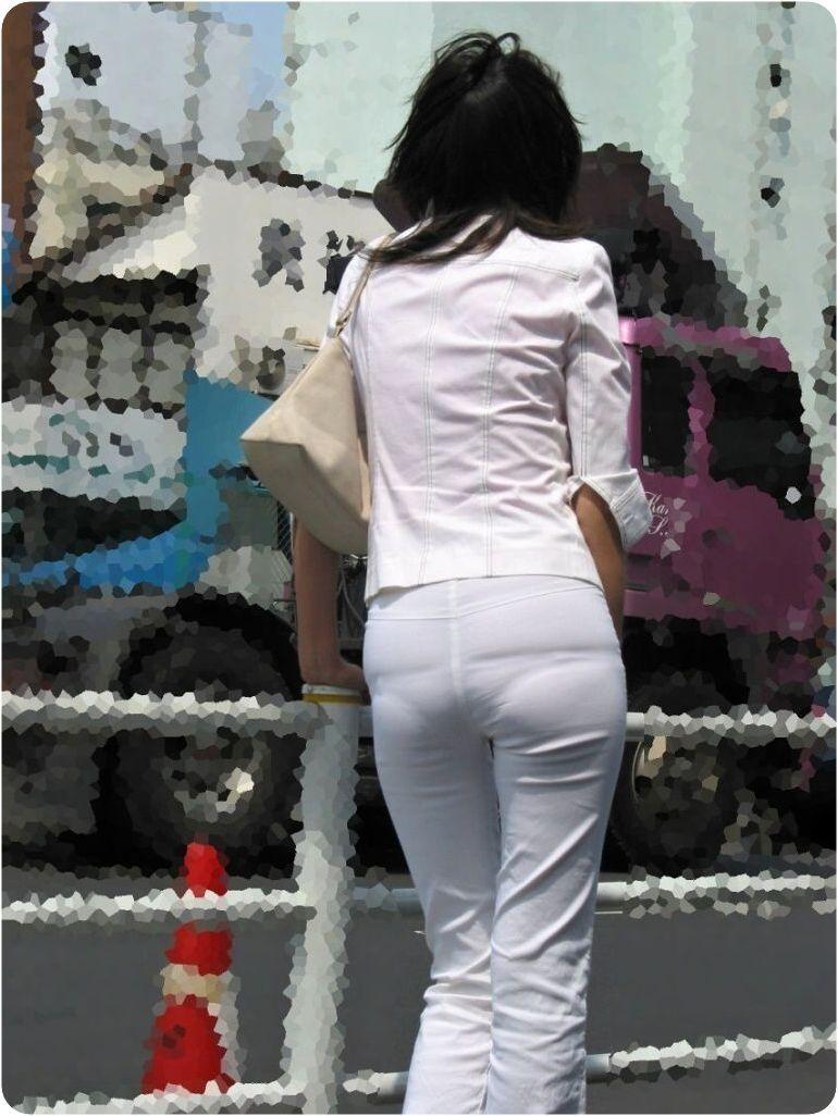【素人着衣透けエロ画像】見せるつもりのない着衣から透けた素人娘のランジェリー! 30