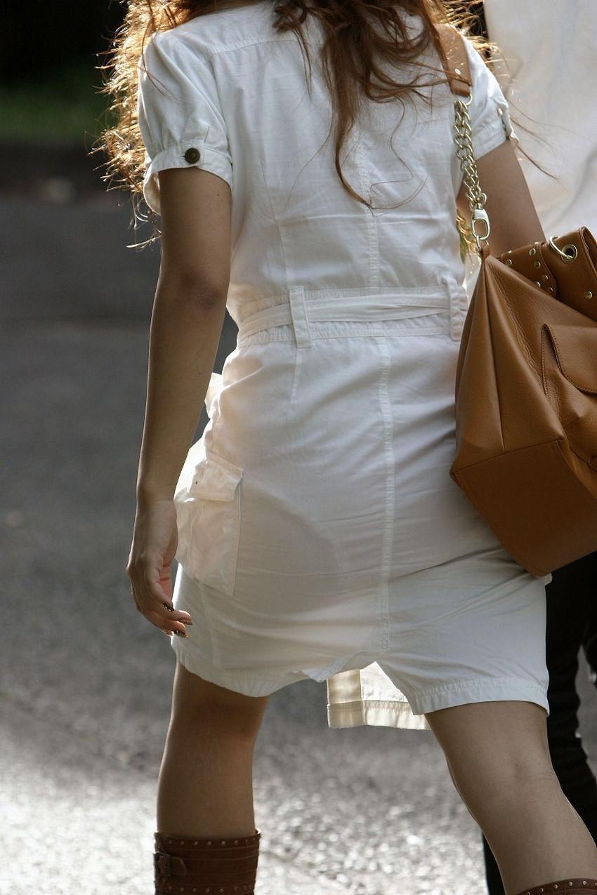 【素人着衣透けエロ画像】見せるつもりのない着衣から透けた素人娘のランジェリー! 43