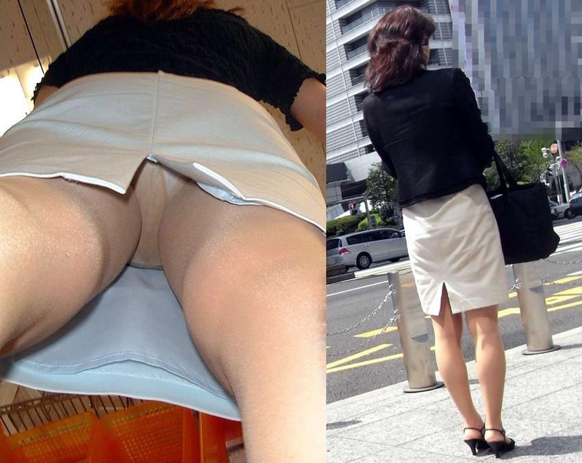 【パンチラ逆さ撮りエロ画像】スカートの中身を真下から狙った逆さ撮り! 09