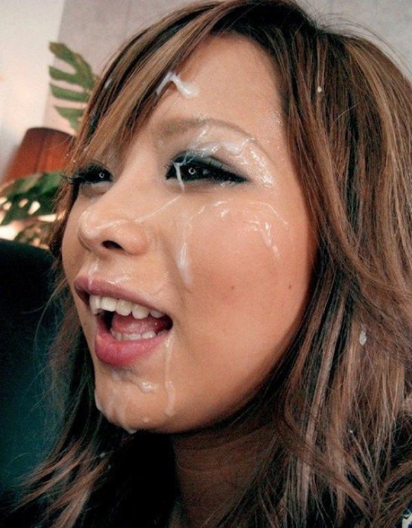 【顔射エロ画像】女の子の顔面におもいっきりザーメン発射!wwww 48