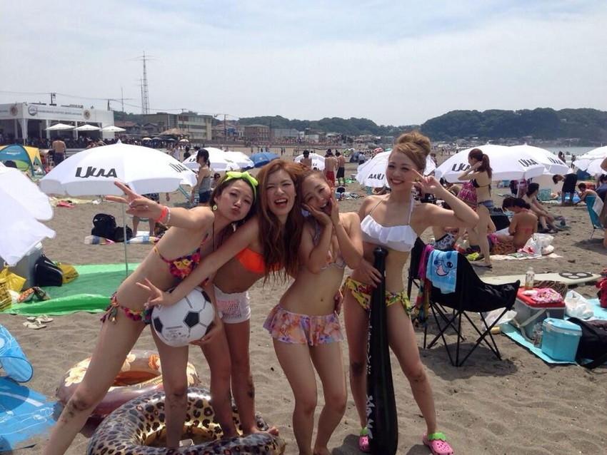 【素人水着エロ画像】素人娘たちの水着姿が生々しくて勃起不可避な件! 12