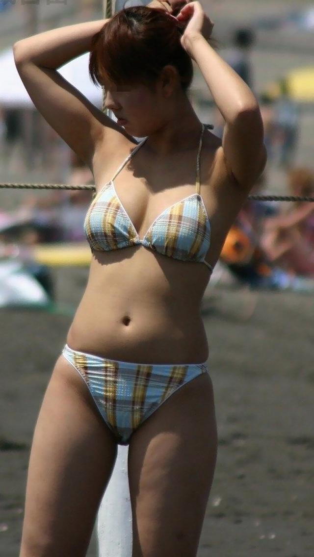 【素人水着エロ画像】素人娘たちの水着姿が生々しくて勃起不可避な件! 13
