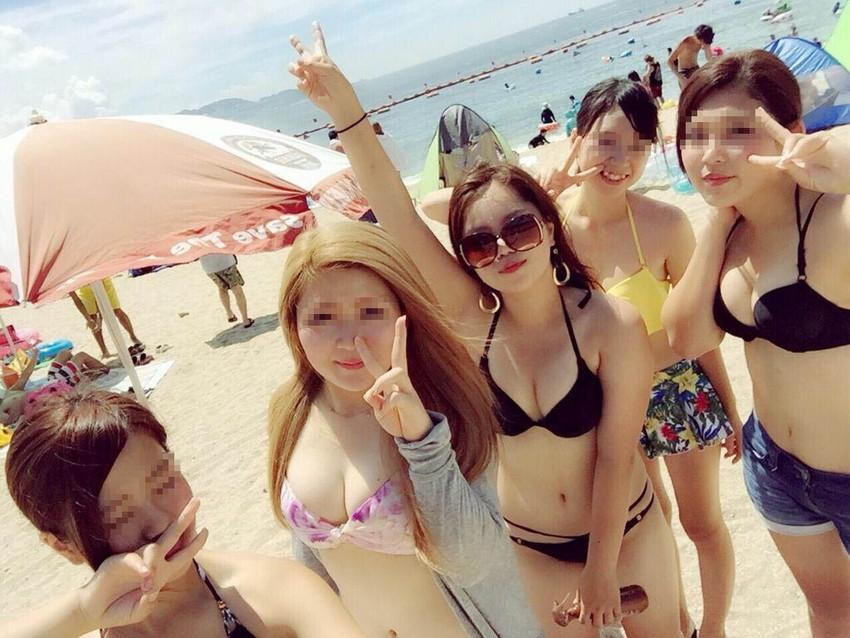 【素人水着エロ画像】素人娘たちの水着姿が生々しくて勃起不可避な件! 41