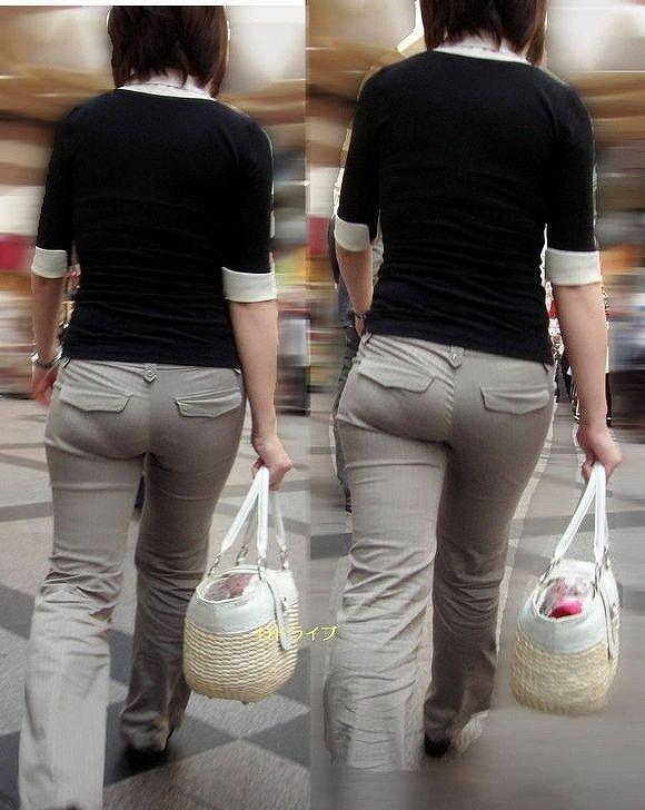 【透けパンエロ画像】街中で美女達が私キレイでしょ?って感じで歩いてるのに透けパンティー盗撮されてるとか最高すぎww