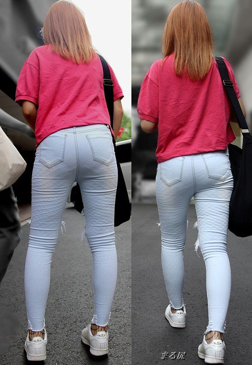 【透けパンエロ画像】街中で美女達が私キレイでしょ?って感じで歩いてるのに透けパンティー盗撮されてるとか最高すぎww 10