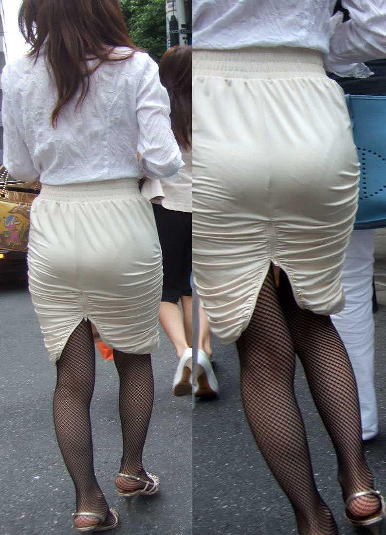 【透けパンエロ画像】街中で美女達が私キレイでしょ?って感じで歩いてるのに透けパンティー盗撮されてるとか最高すぎww 16