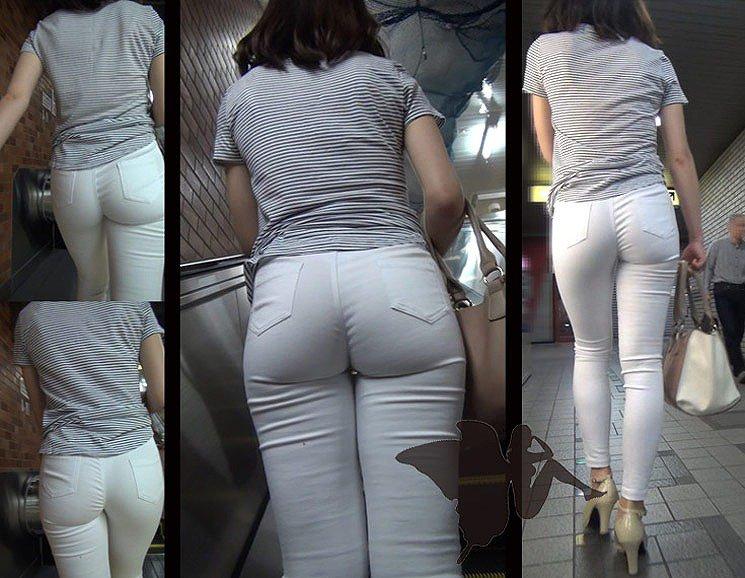 【透けパンエロ画像】街中で美女達が私キレイでしょ?って感じで歩いてるのに透けパンティー盗撮されてるとか最高すぎww 30