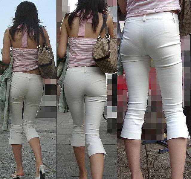 【透けパンエロ画像】街中で美女達が私キレイでしょ?って感じで歩いてるのに透けパンティー盗撮されてるとか最高すぎww 71