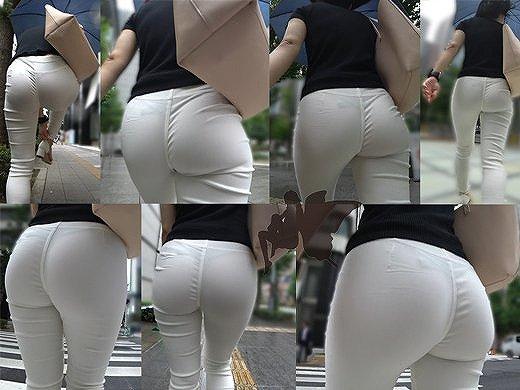 【透けパンエロ画像】街中で美女達が私キレイでしょ?って感じで歩いてるのに透けパンティー盗撮されてるとか最高すぎww 75