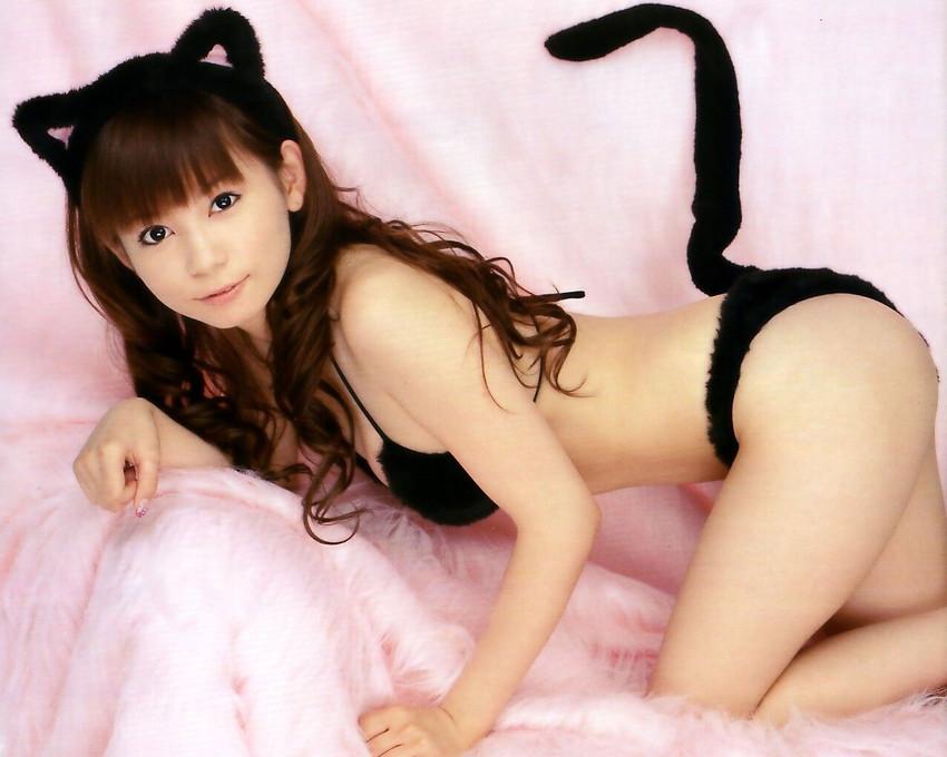 【ケモミミエロ画像】バニーちゃんだけじゃない!超美少女が猫耳やクマミミなどのケモミミコスプレして絶賛発情期のケモミミエロ画像集 47