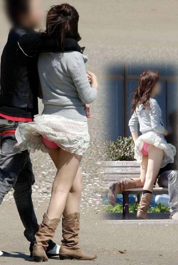 【風パンチラエロ画像】普段良い行いをしてるとJKや素人お姉さんたちの風パンチラが盗撮できちゃうよww 39