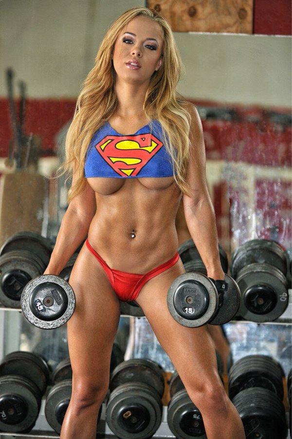 【筋肉女子エロ画像】性欲の塊のような逆レイプ回避不可能そうな筋肉女子のエロ画像集!ww 43