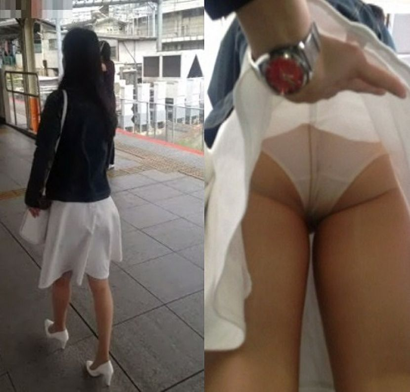 【スカート捲りエロ画像】無防備な生活感のある素人パンティー最高!スカート捲りでパンモロ状態する瞬間を隠し撮り!ww