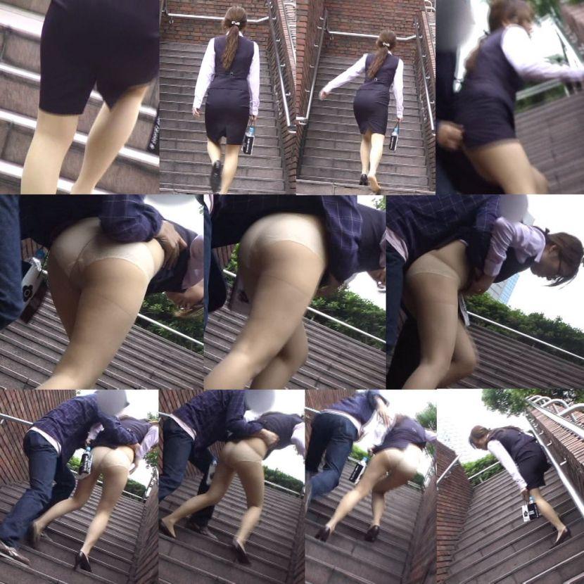 【スカート捲りエロ画像】無防備な生活感のある素人パンティー最高!スカート捲りでパンモロ状態する瞬間を隠し撮り!ww 31