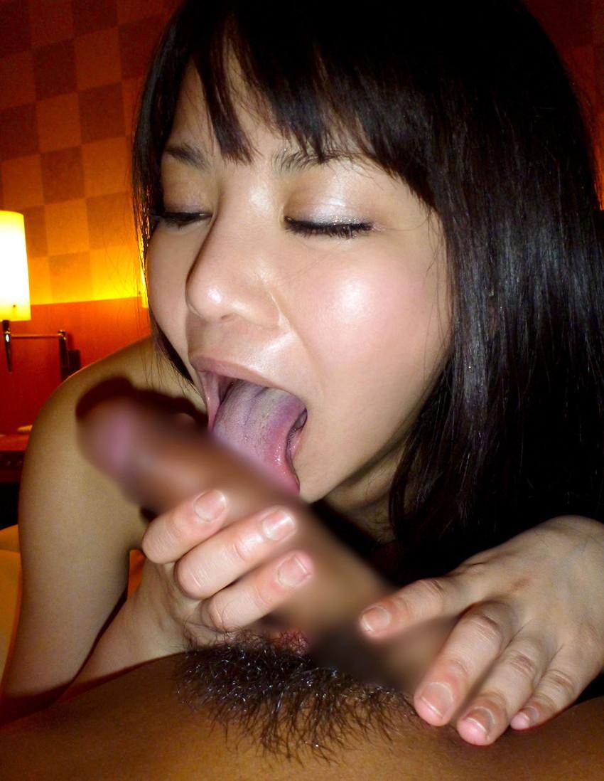 【裏筋舐めフェラエロ画像】ご奉仕大好き女子が裏筋を丁寧にねっとり舐めてフェラしてくれてる裏筋舐めフェラのエロ画像集!ww【80枚】 64