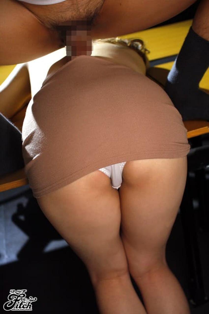 【タイトスカートエロ画像】デカ尻のワレメまでくっきり浮かび上がるタイトスカートお姉さんのエロ画像集!ww【80枚】 60