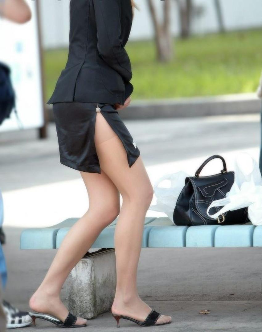 【スリットスカートエロ画像】タイトミニやスリットスカート腰の太ももやパンチラがセクシーすぎるスリットスカートのエロ画像集!ww【80枚】 61