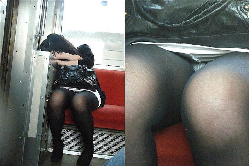 【居眠りパンチラエロ画像】居眠りOLが電車内でお股ユルユル!ww居眠り美女の無防備なパンチラを盗撮した居眠りパンチラのエロ画像集!ww【80枚】 24