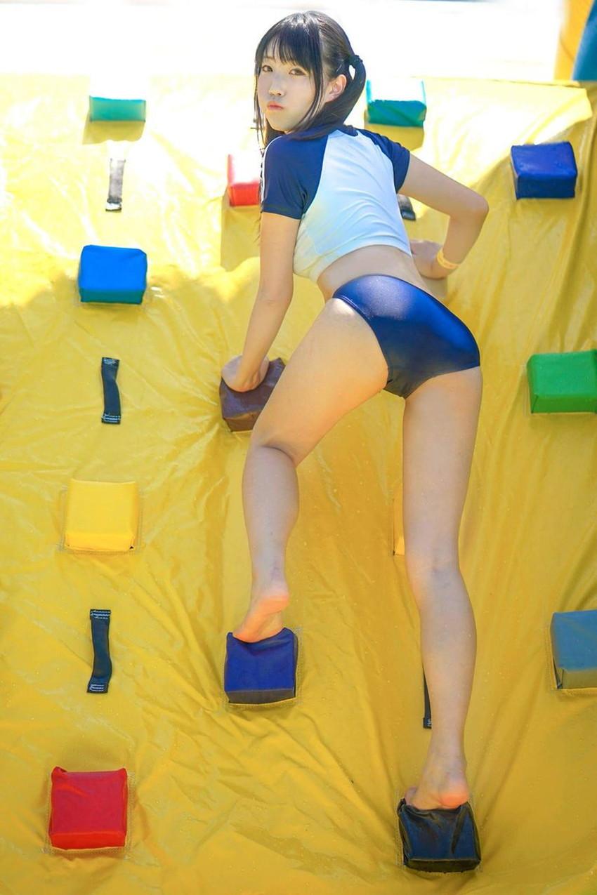 【ブルマコスプレエロ画像】童顔美少女がパツパツのブルマを履いてまんすじや美尻のワレメに喰い込ませてるブルマコスプレのエロ画像集!ww【80枚】 29