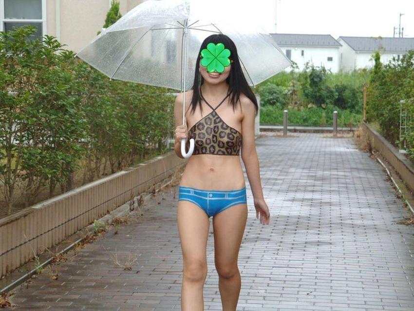 【ボディペイントエロ画像】全裸なのにボディペイントで着衣に見せかけ野外で露出狂プレイを堪能するボディペイントのエロ画像集ww!ww【80枚】 02