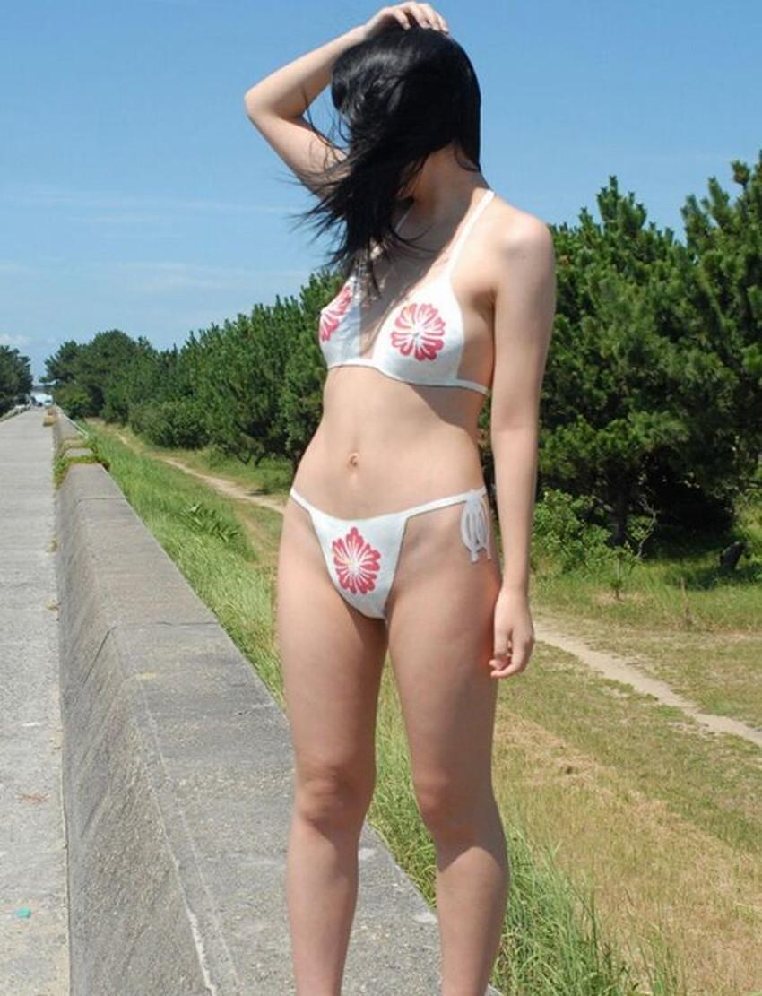 【ボディペイントエロ画像】全裸なのにボディペイントで着衣に見せかけ野外で露出狂プレイを堪能するボディペイントのエロ画像集ww!ww【80枚】 55