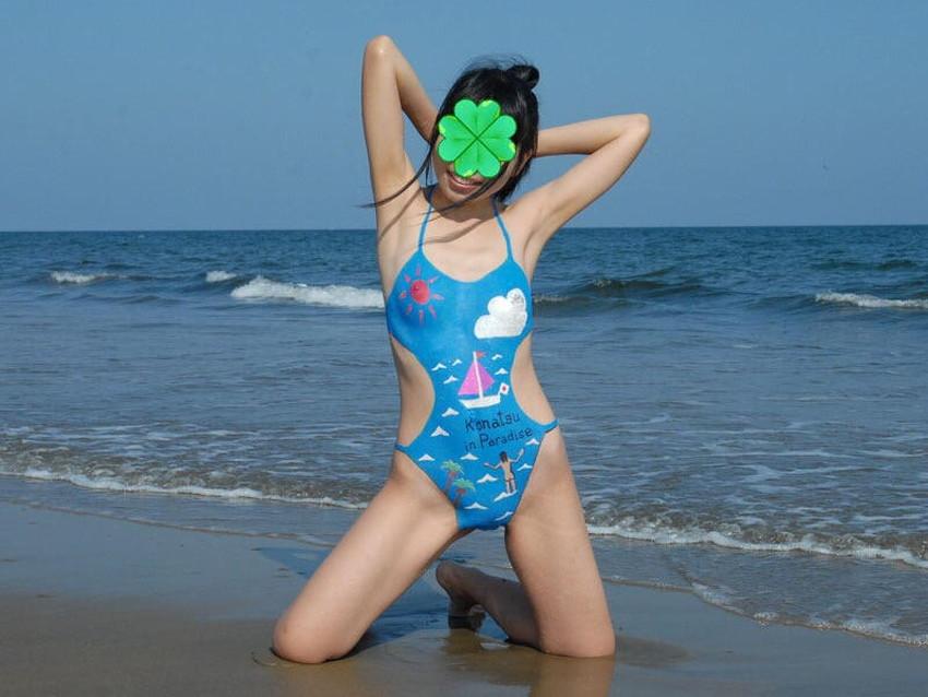 【ボディペイントエロ画像】全裸なのにボディペイントで着衣に見せかけ野外で露出狂プレイを堪能するボディペイントのエロ画像集ww!ww【80枚】 79