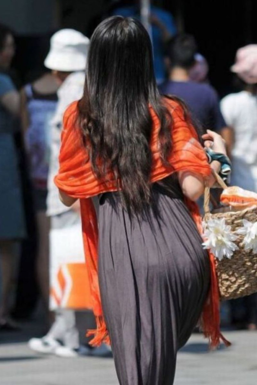 【ロングワンピースエロ画像】パン線丸見えのマキシ丈ワンピがエロ過ぎて着衣手マンで潮吹きさせちゃうロングワンピースのエロ画像!ww【90枚】 42