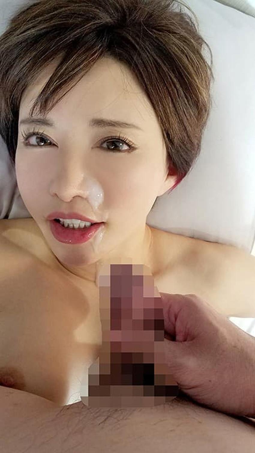 【顔射フィニッシュエロ画像】美女とのセックスは顔面にフィニッシュ!!Hのクライマックスで濃厚ザーメンをぶっかけした顔射フィニッシュのエロ画像集!ww【80枚】 23