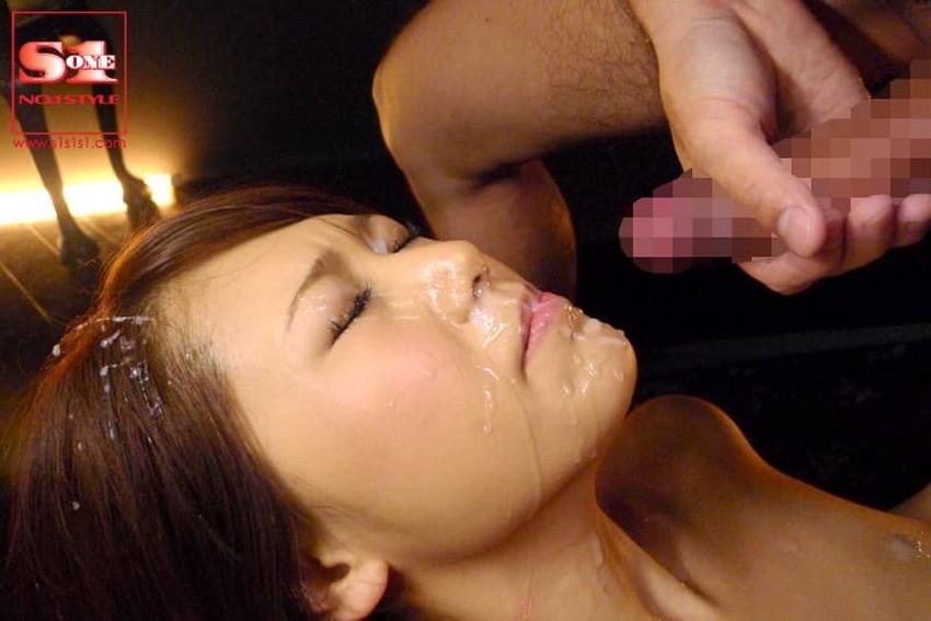【顔射フィニッシュエロ画像】美女とのセックスは顔面にフィニッシュ!!Hのクライマックスで濃厚ザーメンをぶっかけした顔射フィニッシュのエロ画像集!ww【80枚】 55