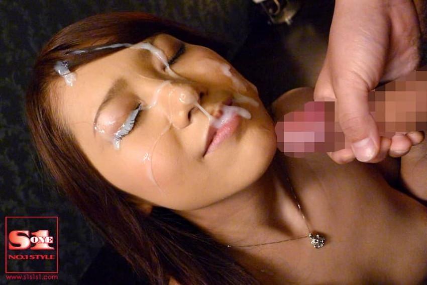 【顔射フィニッシュエロ画像】美女とのセックスは顔面にフィニッシュ!!Hのクライマックスで濃厚ザーメンをぶっかけした顔射フィニッシュのエロ画像集!ww【80枚】 73