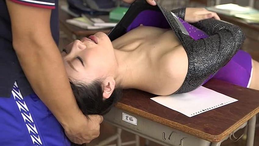 【レオタードエロ画像】新体操部JKのレオタードハミパンに興奮して着衣状態でセックスしちゃうレオタードのエロ画像集!ww【80枚】 04