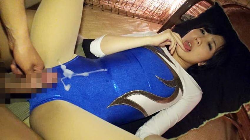 【レオタードエロ画像】新体操部JKのレオタードハミパンに興奮して着衣状態でセックスしちゃうレオタードのエロ画像集!ww【80枚】 23