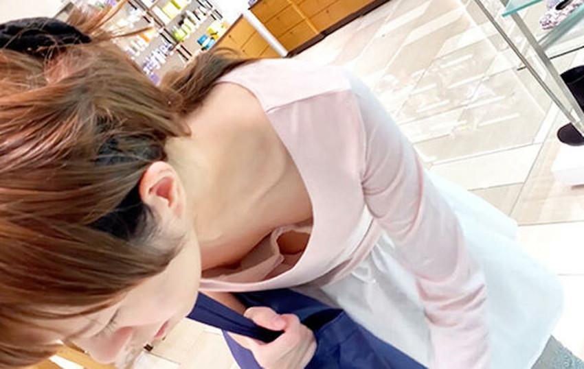 【貧乳胸チラエロ画像】貧乳だからこそ見える前かがみ胸チラ!!服やブラがスカスカで乳首まで見えてる貧乳胸チラのエロ画像集!ww【80枚】 02